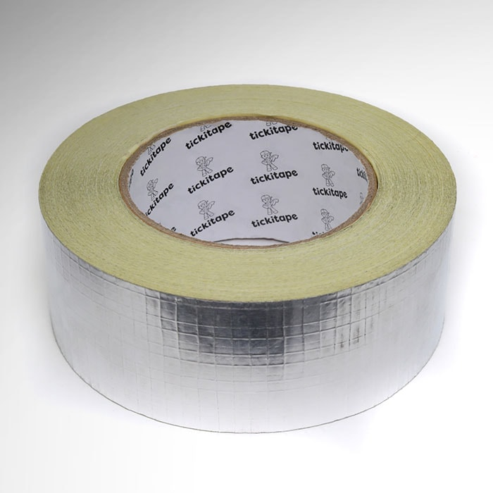 AS256 Reinforced self adhesive aluminium foil tape with liner, Narrow grid