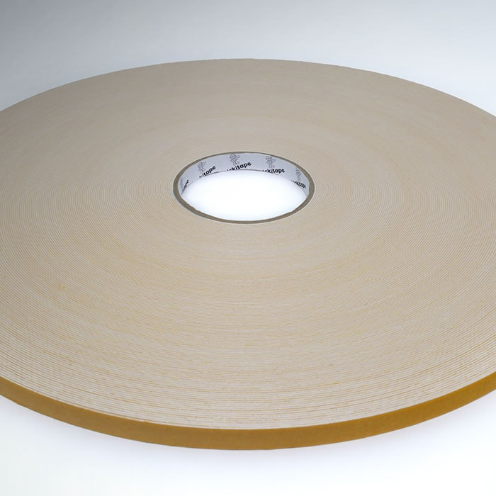 AS343 Double sided PE, polyethylene white foam tape hot melt adhesive 1mm thick