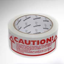 AS976 Printed vinyl packaging tape Caution 50mm x 66m