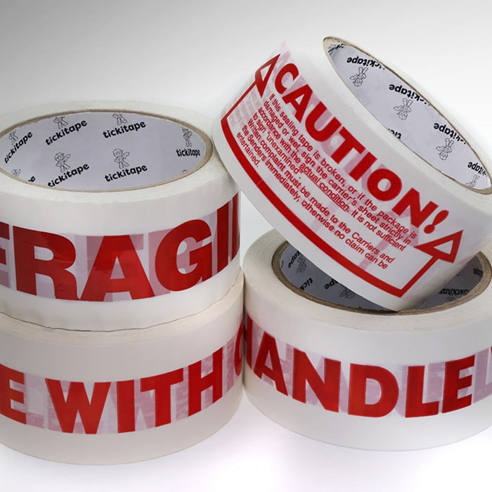 AS972 Printed vinyl packaging tape Fragile