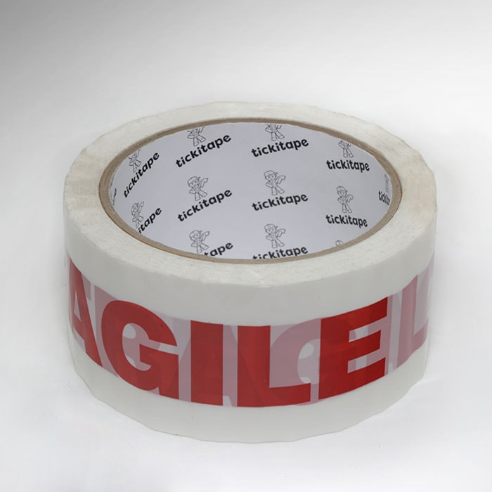 AS962 Printed packaging carton sealing Polypropylene poly tape Fragile
